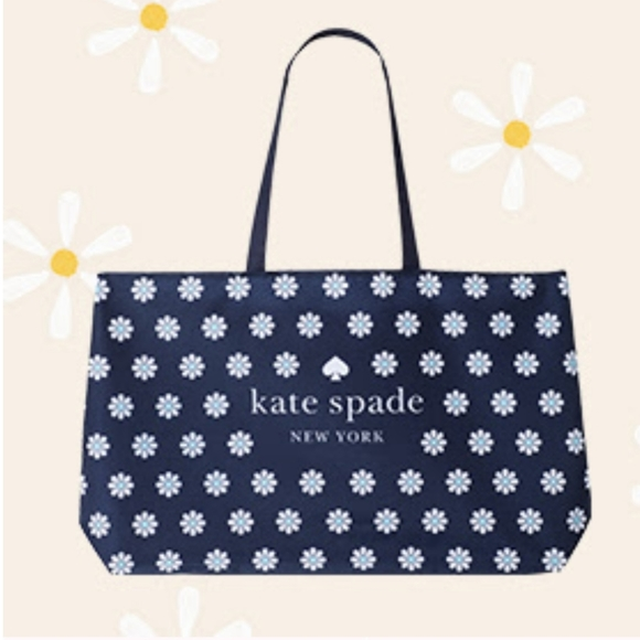 SOLD NWT Kate Spade Blue Daisy Lg Lightweight Tote